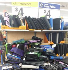 ALWAYS shop off season! Buy your school supplies now while it's up to 90% off. Or just buy a binder for coupons