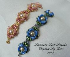 Elegance By Renee: Blooming Buds Bracelet Pattern Now Available!!