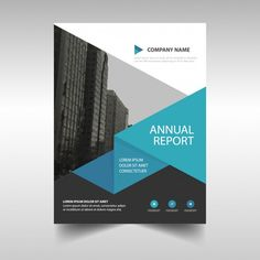 Leaflet with geometric shapes in blue tones Free Vector Web Design, Book Design, Flyer Design, Leaflet Layout, Leaflet Design, Design Portfolio Layout, Graphic Design Brochure, Brochure Layout, Business Poster
