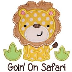 Lion Safari Applique