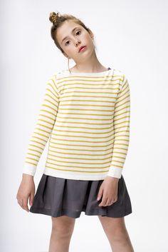 Jersey rayas cashemere + vestido gris grafito Kitty, Blouse, Long Sleeve, Sleeves, Shopping, Tops, Women, Fashion, Gray Dress Outfit