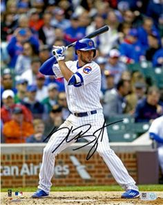 Kris Bryant Chicago Cubs Fanatics Authentic Autographed x Hitting Photograph with 2016 NL MVP Inscription Baseball Playoffs, Chicago Cubs Baseball, Baseball Boys, Tigers Baseball, Chicago Bears, Baseball Field, Chicago Cubs Memorabilia, Bryant Baseball, Cubs Win