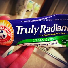 #trulyradiant toothpaste by #arm&hammer had flavor that was too intense for me. I also need sensitivity protection. It otherwise left my mouth feeling fresh. (I received free product in exchange for feedback.)