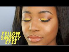 Spring look: Subtle Yellow Smokey Eyes | Beauty With Vee ♡