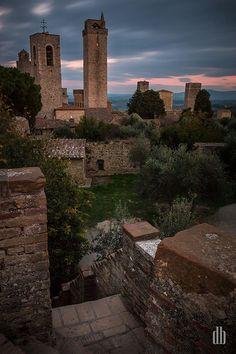 San Gimignano Skyline at Sunset ♠ | Flickr - Photo Sharing!