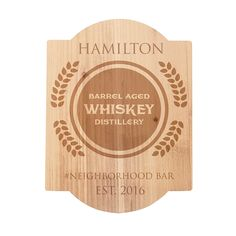 The Personalized Barrel Aged Whiskey Distillery Bar Sign is great for gifting or spicing up your own home bar Best Groomsmen Gifts, Groomsman Gifts, Aged Whiskey, Whiskey Distillery, Pub Signs, Beer Caps, Christmas Gifts For Men, Personalized Signs, Engagement Gifts