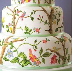 Wedding Cake Mondays: The Beauty of a Hand Painted Wedding Cake - My Inspired Wedding by WedAlert Network