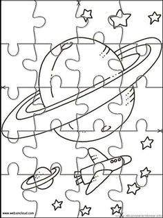 Printable Jigsaw Puzzles To Cut Out For Kids Space 41 Coloring Pages