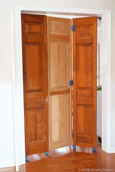 High Gloss Rolling Doors for My Studioffice - In My Own Style Door Dividers, Room Divider Doors, Diy Room Divider, Room Doors, Temporary Door, Temporary Wallpaper, Diy Door, Decoration, Small Spaces