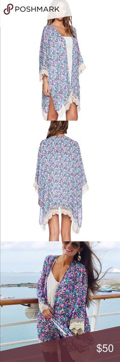 Lucca Couture Floral Kimono nwtgs Beautiful Floral Kimono from Lucca Couture sz M Lucca Couture Tops