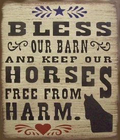 Bless Our Barn Western Horses Primitive Rustic Country Wood Sign Home Decor by SouthernHomeSigns on Etsy