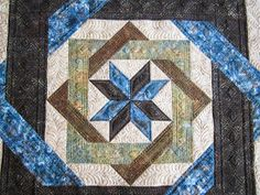 Sue Daurio's Quilting Adventures: Labyrinth Done The front of Sue's fabulous quilt. She is a professional machine quilter and this is a customer's quilt. Quilt Square Patterns, Quilt Block Patterns, Square Quilt, Quilt Blocks, Machine Quilting Designs, Quilting Projects, Quilting Ideas, Star Quilts, Mini Quilts