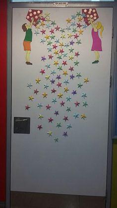 Sınıf kapısı süsleme