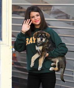Baylor (Adopted by Selena Gomez & Justin Bieber) | 20 Celebs And Their Adorable Adopted Pups