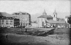 riadevigo.net Vista trasera de la Iglesia de Santiago de Vigo desde la futura Plaza de Portugal aproximadamente en el año 1910.