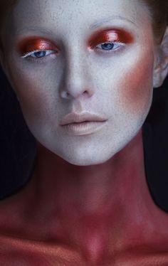 "darkbeautymag:  ""Photographer: Anastasia Ulyanova  Makeup: Olia Gebel  Model: Ksenia Sokolova  """