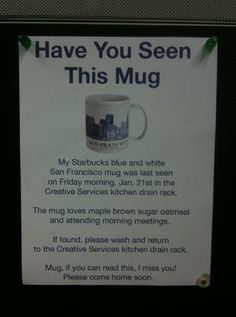 Have You Seen This Mug