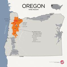 """[Map] """"Oregon wine region (US) - Willamette Valley focus"""" Jan-2014 by Winefolly.com"""