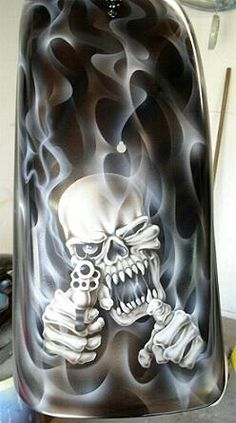 Harley davidson bikes photos are offered on our site. Custom Motorcycle Paint Jobs, Custom Paint Jobs, Motorcycle Art, Bike Art, Moto Bike, Motorcycle Wiring, Motorcycle Humor, Skull Artwork, Skull Painting
