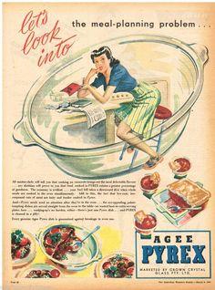 AGEE PYREX, Vintage Advertising 1947 Original - Australia