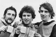 Tony 'Bomber' Brown, Bryan Robson and John Osbourne