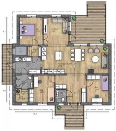 House Floor Plans, Future House, Sweet Home, Home And Garden, Flooring, How To Plan, Interior Design, Architecture, Building