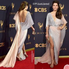 "581 Likes, 4 Comments - Britta Kristiansen (@brittalovesfashion) on Instagram: ""Jessica Biel also turned heads at The Emmy Awards- in Ralph & Russo backless couture gown!…"""