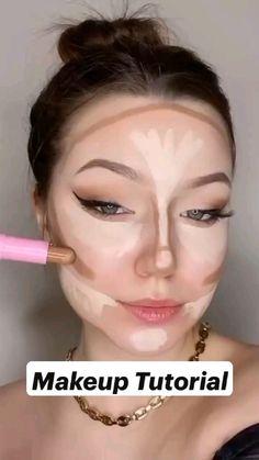 Eyebrow Makeup Tips, Makeup Tutorial Eyeliner, Makeup Looks Tutorial, Natural Eye Makeup, Skin Makeup, Makeup Videos, Highlighter Makeup, Makeup Hacks, Easy Eyeshadow Tutorial