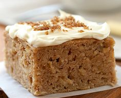 Spiced Apple Cake with Brown Sugar Cream Cheese Frosting | BC Tree Fruits