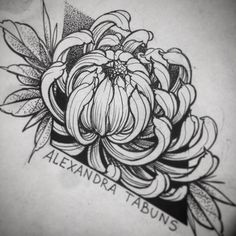 For new stickers ✨ Great Tattoos, New Tattoos, Girl Tattoos, Tatoos, Rose Tattoos, Flower Tattoos, Black Tattoos, Crisantemo Tattoo, Tatoo Flowers