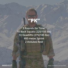 """PK"" WOD – 5 rounds on time: 10 back squats lbs); 10 Deadlifts … - Fitness and Exercises Crossfit Wods, Crossfit At Home, Squat Workout, Gym Workouts, At Home Workouts, Hero Workouts, Trx, Military Workout, Back Squats"