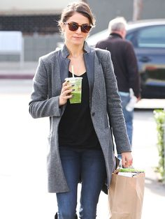 Love. That. Coat. Star Tracks: Tuesday, December 16, 2014 | GREEN WITH ENVY | Nikki Reed juices up while running some errands in West Hollywood on Sunday.