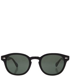 Moscot Black Lemtosh Round Sunglasses | Women's Accessories | Liberty.co.uk