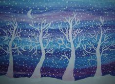 Zima (tempery + běloba)