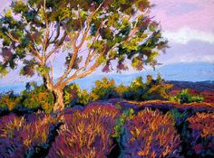 Russian Olive and Lavender by Mary Jane Erard  ~ 18 x 22