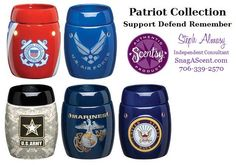 Scentsy Patriot Collection: Army, Coast Guard, Air Force, Marines, Navy warmers