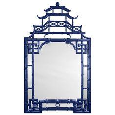 Barclay Butera for Mirror Image Home Pagoda Mirror Blue @Zinc_Door