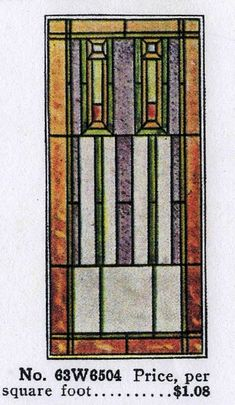 Sears Stained Glass Window from their building materials and millwork catalog.