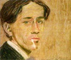 Autorretrato (2), pastel de Gino Severini (1883-1966, Italy)