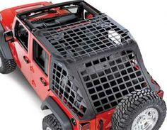 Smittybilt C.RES System Cargo Net 07-13 Jeep Wrangler JK Unlimited 581035 Black