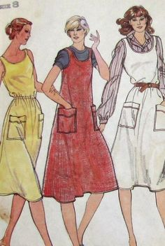 Vintage 70s Butterick Pattern 3616 Size 8 Misses Dress or Jumper Bust 31. $3.00, via Etsy.