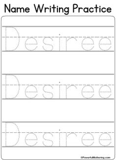 free name tracing worksheet printable font choices pre school preschool names name. Black Bedroom Furniture Sets. Home Design Ideas