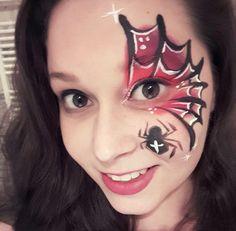 Halloween face paint eye design
