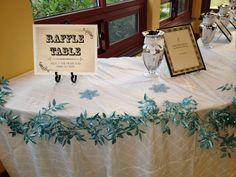 The raffle table I created for Bridal Ball Atlanta