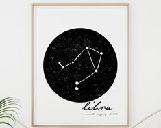Modern Minimalist Colorful Printable by KitchenSinkPrintShop Wall Art Sets, Large Wall Art, Wall Art Prints, Vegetable Prints, White Wall Decor, Zodiac Constellations, Scandinavian Art, Zodiac Art, Simple Lines