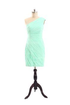 All Over Pleated Chiffon Bridesmaid Dress