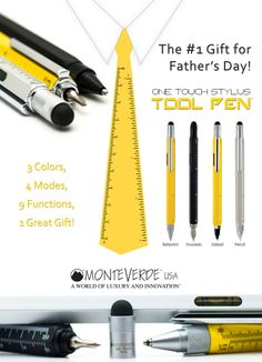 Looking for a perfect gift for that special man in your life, the One Touch Stylus Tool Pen will be the #1 Gift to give to that #1 Dad!