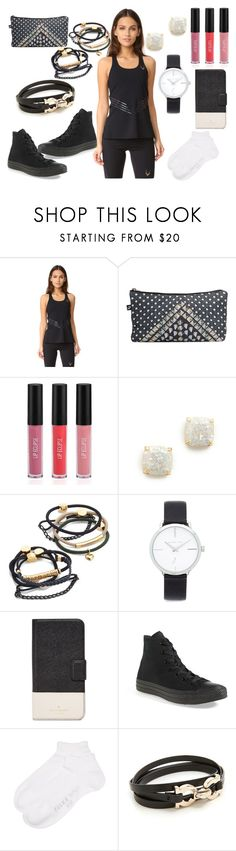 """Routine"" by hillarymaguire ❤ liked on Polyvore featuring Lucas Hugh, Terez, Sigma, Kate Spade, By Lilla, Michael Kors, Converse, Falke, Salvatore Ferragamo and fabulous"