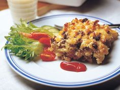 Soijamakaronilaatikko Cook At Home, Waffles, Pasta, Meat, Chicken, Cooking, Breakfast, Recipes, Food
