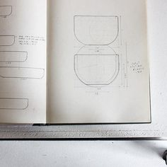 Crucible Drawings.  On the left, ratios of height to width.  Top right is what I thought the curve of the underside should be, a quarter of a circle with a diameter the same as the height, but it seemed heavy and dumpy. I looked again at one of the initial pieces I had thrown, the most successful one, and realised that it wasn't neatly geometric at all, the circle that described the curve that gave the pot its character, the lightness to the heavy shape, didn't really join up with the…